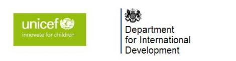 DfID UNICEF logos